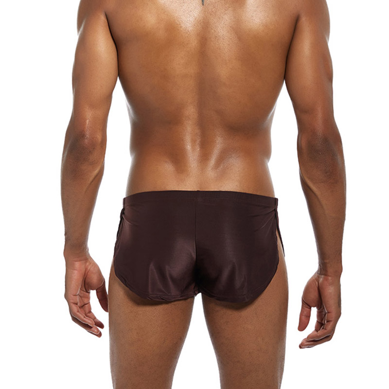 Men Boxer   Shorts   Low Waist Breathable Casual Cool Solid Color Gift For Boyfriend Sport AIC88