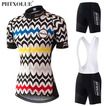 Phtxolue Team 2017 Cycling Clothing Women Breathable MTB Bike Bicycle Clothes Summer Wear Maillot Jersey Set