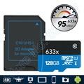 95 МБ/с. 633x MicroSD 16 Г Класс 10 64 ГБ microSDXC microSDHC 32 ГБ 128 ГБ Чтения Карт Памяти UHS-I для Drone Gopro Hero Спорт видеокамеры