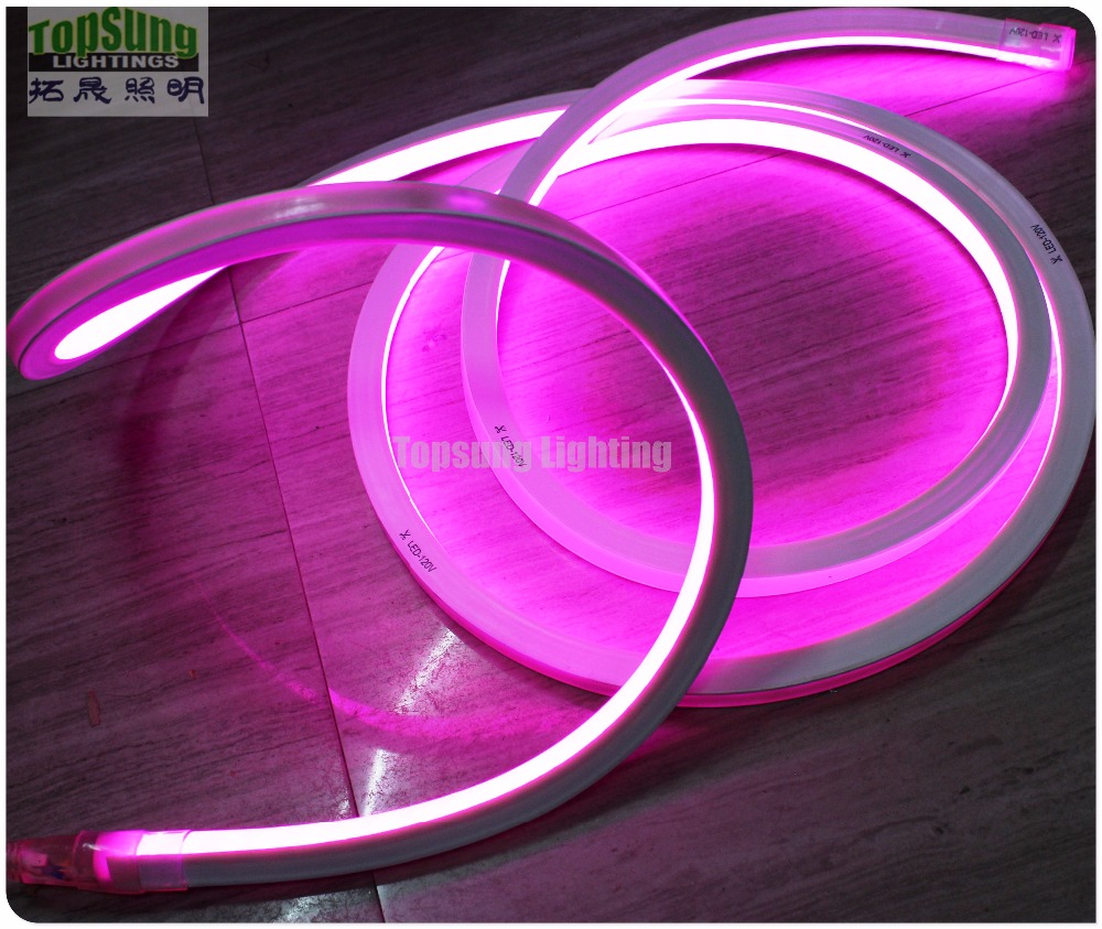 Top view square 17x17mm led neon stripes lighting neon flex replacement rgb  rope lights 5050 smd DMX color changing for building-in LED Strips from