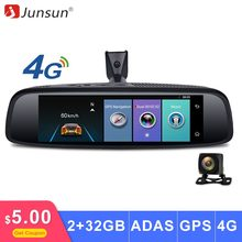 "Junsun 2+32G Car Special Mirror DVR Camera 4G Android 7.86"" ADAS Bluetooth Full HD 1080P Video Recorder dash cam Rearview Mirror(China)"