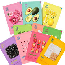 Holika Pure Essence Mask Sheet RANDOMLY 10pcs Facial Skin Care Face Moisturizing Oil Control Korean Cosmetics