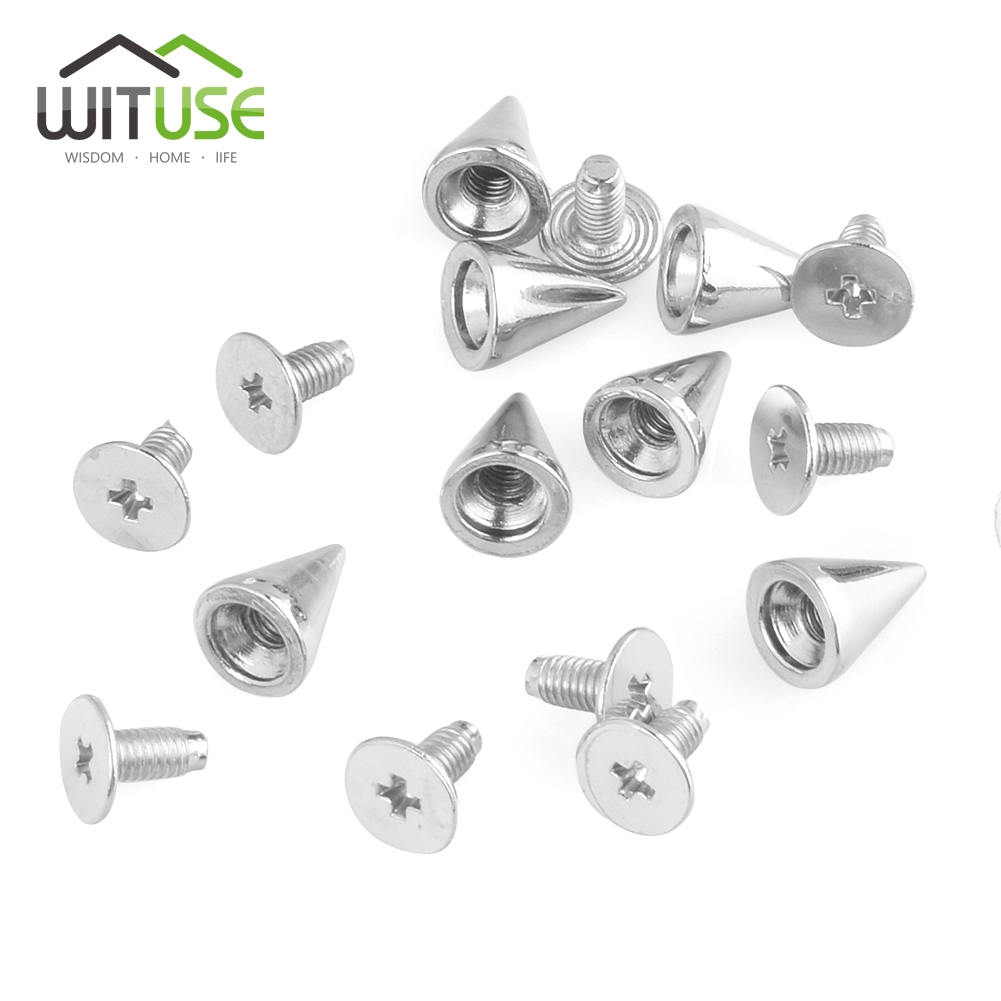 Punk Most Popular Studs for Clothing Leather Standard Cones ideally used for your Jackets /& Apparels Available in Silver Color Small 77 Silver Metal Studs Pack of 100 studs and spikes