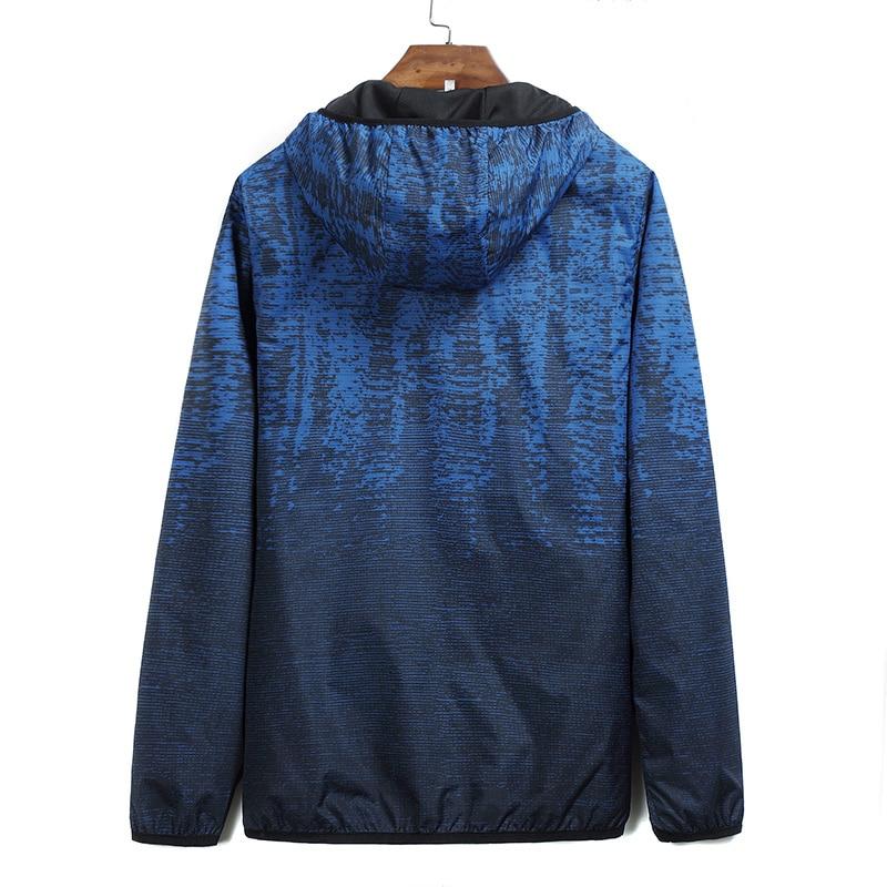 Occasionnel Grande vent Outwear À Super Capuchon Printemps Taille Veste Mince Manteau Zipper Hommes Automne Blouson blue 9xl Black 10xl Nouveau Coupe Mâle vEqPSw