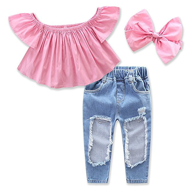e0725694dce1 Detail Feedback Questions about 3pcs Baby Girls Toddler Kids Off ...