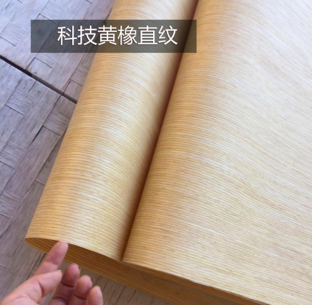 L:2.5Meter  Width:55cm  Thickness:0.25mm  Technology Straight Grain Yellow Oak Bark Veneer