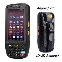 Android 7,0 КПК POS переносным терминалом Поддержка gps GPRS Wi-Fi Bluetooth 4G мобильный 1D 2D считыватель штрих-кодов qr-кодов для планшетных ПК Камера