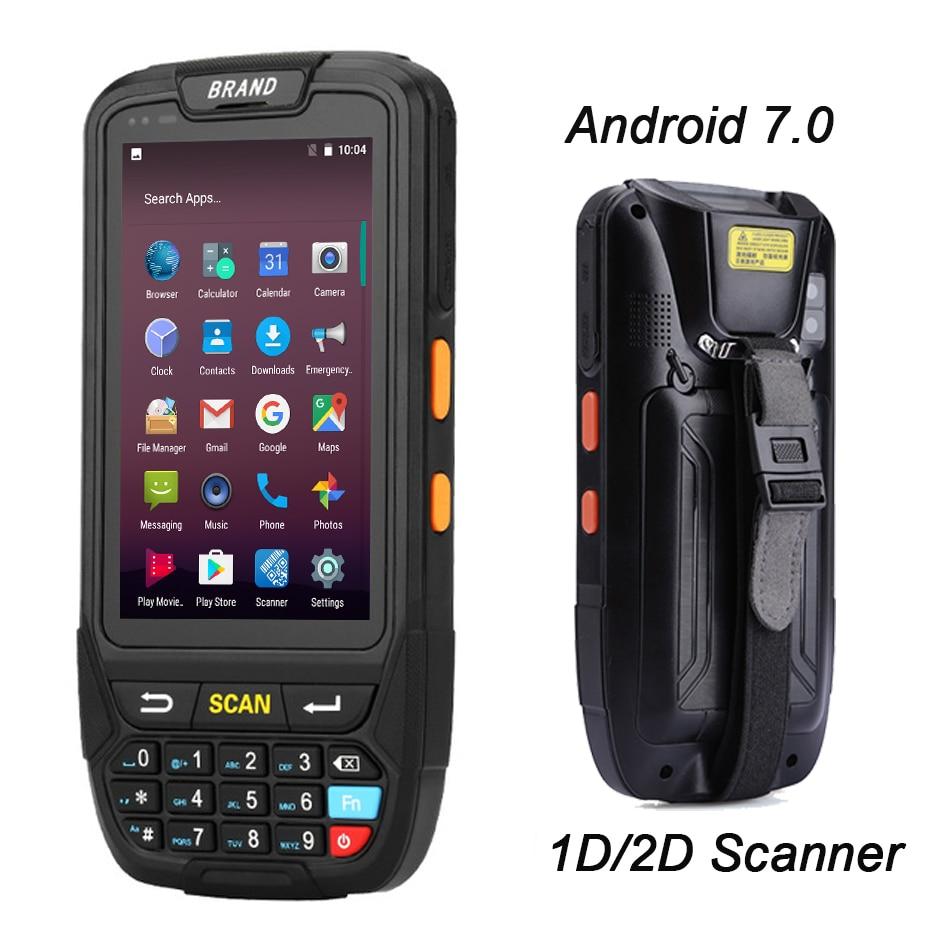 Android 7.0 Supporto del terminale PDA POS Palmare GPS GPRS Wifi Bluetooth 4g Mobile 1D 2D QR Lettore di Codici A Barre Per tablet Macchina Fotografica del Pc