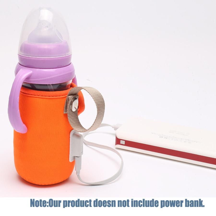 Diaper Bag USB Baby Bottle Warmer Milk Warmer Infant Feeding Bottle Heated Cover Insulation Thermostat Food Heater