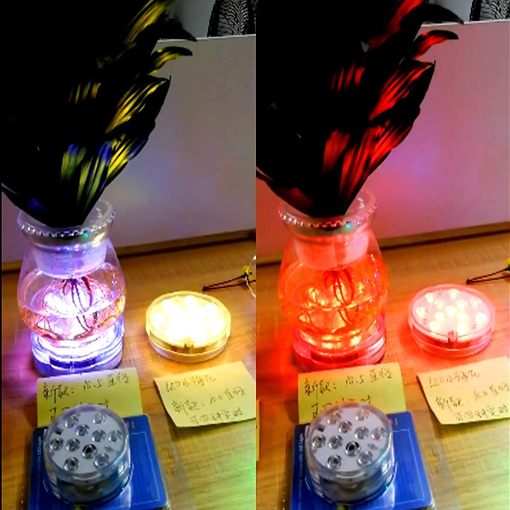 led aquário luz botão controle remoto cronometragem com botão bateria