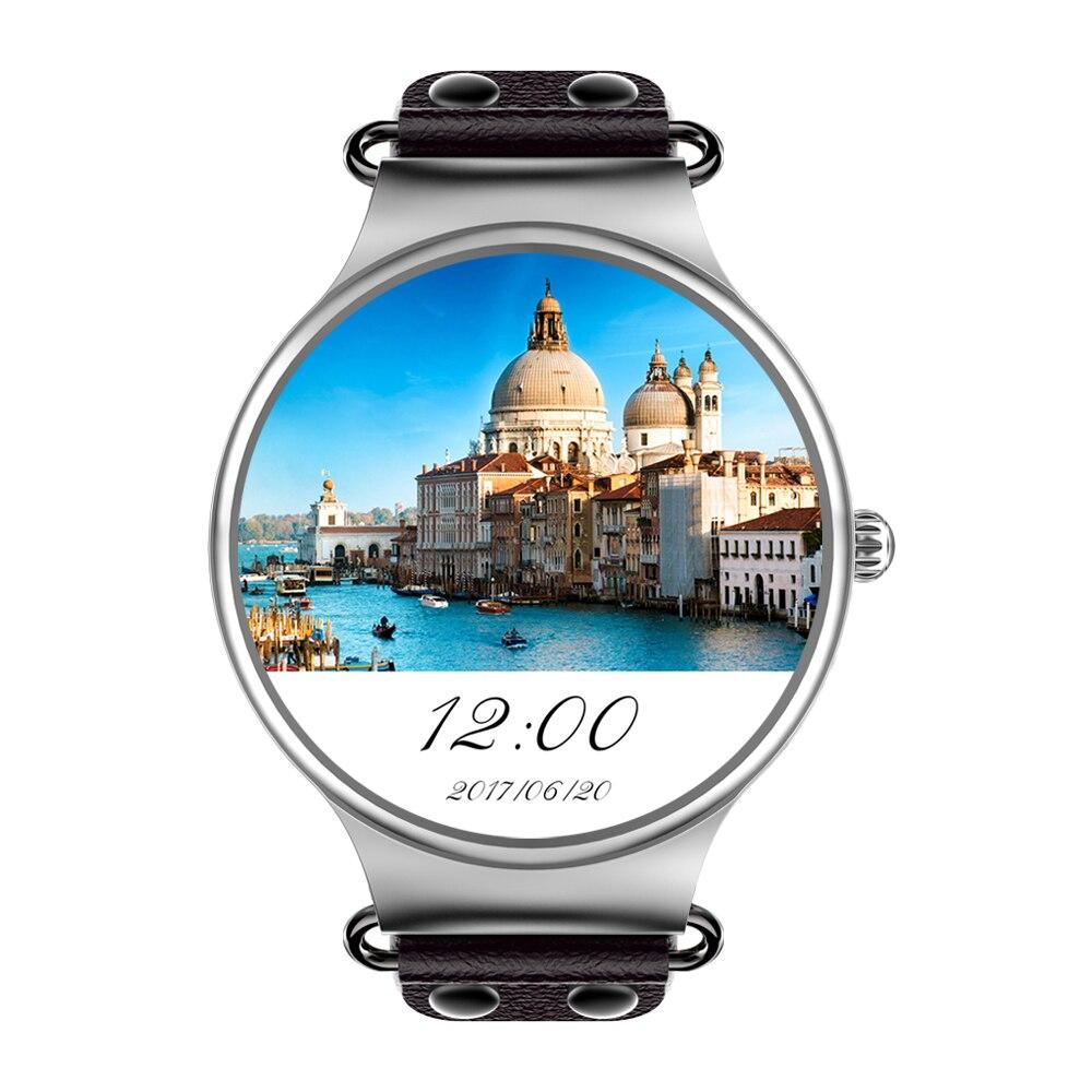 Classique KW98 3G Smartwatch téléphone Android 5.1 1.39 pouces MTK6580 Quad Core 1.0 GHz 8 GB ROM GPS fréquence cardiaque podomètre montre intelligente