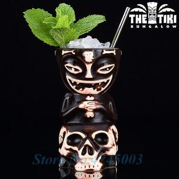 Taza grande con diseño de esqueleto de Tiki Hawaii de 550ml para cóctel, té de la leche, jarras de cerveza, vasos de porcelana, personalidad Caneca, fiesta