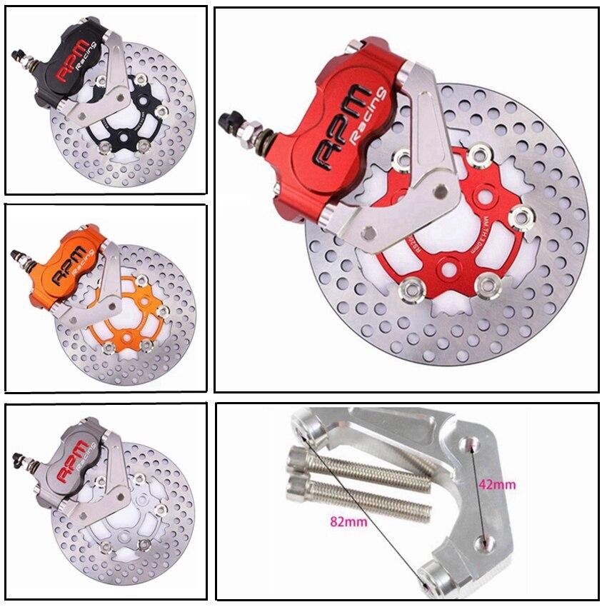 Изменение мотор мотоцикла вилочные тормозные суппорты тормозные насосы + 200 мм адаптер кронштейн + диск Набор универсальный для Yamaha RSZ BWS тол