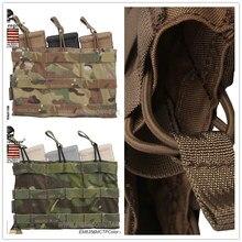 Emersongear – pochette à Triple ouverture pour magazines, équipement de Combat tactique, Multicam AOR1 AOR2, marron et noir, 5.56