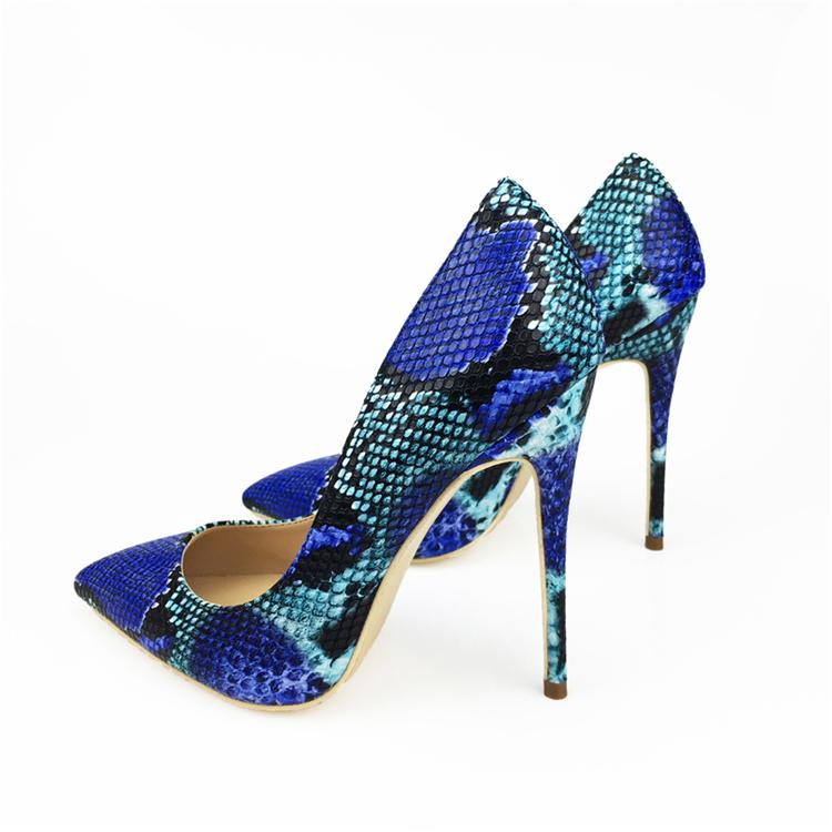 NEW Arrival Women Shoes Blue Snake Printed Sexy Stilettos High Heels Pointed Toe Women Pumps HTB1m2sjbNPI8KJjSspfq6ACFXXaV