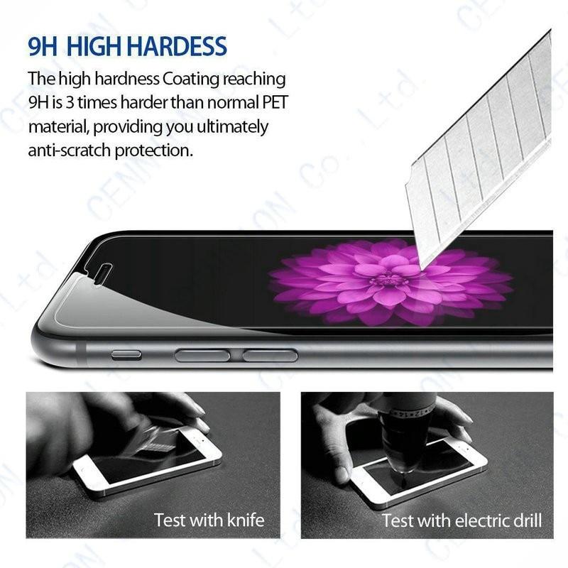 bilder für Ultradünne 0,26mm 2.5d 9 h gehärtetem glas schirmschutz für iphone 7 plus 7 6 s plus 6 s 6 5 s 5c 5 4 s 4 100 stücke keine einzelhandel paket