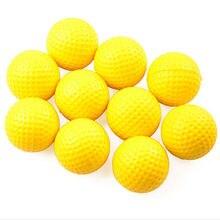 10 шт. высококачественные пластиковые мячи для гольфа, для спорта на открытом воздухе, желтые мягкие эластичные мячи для гольфа, тренировочные мячи для тренировок