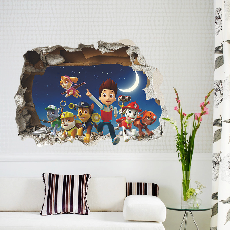 Cartoon Paw Patrol Cartoon Movies Animal Wall Stickers
