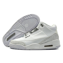 78fff0dea7ed Jordan 3 Men Basketball Shoes Katrina White Cement Black Cat Bred Military  Blue Pure Money Fire