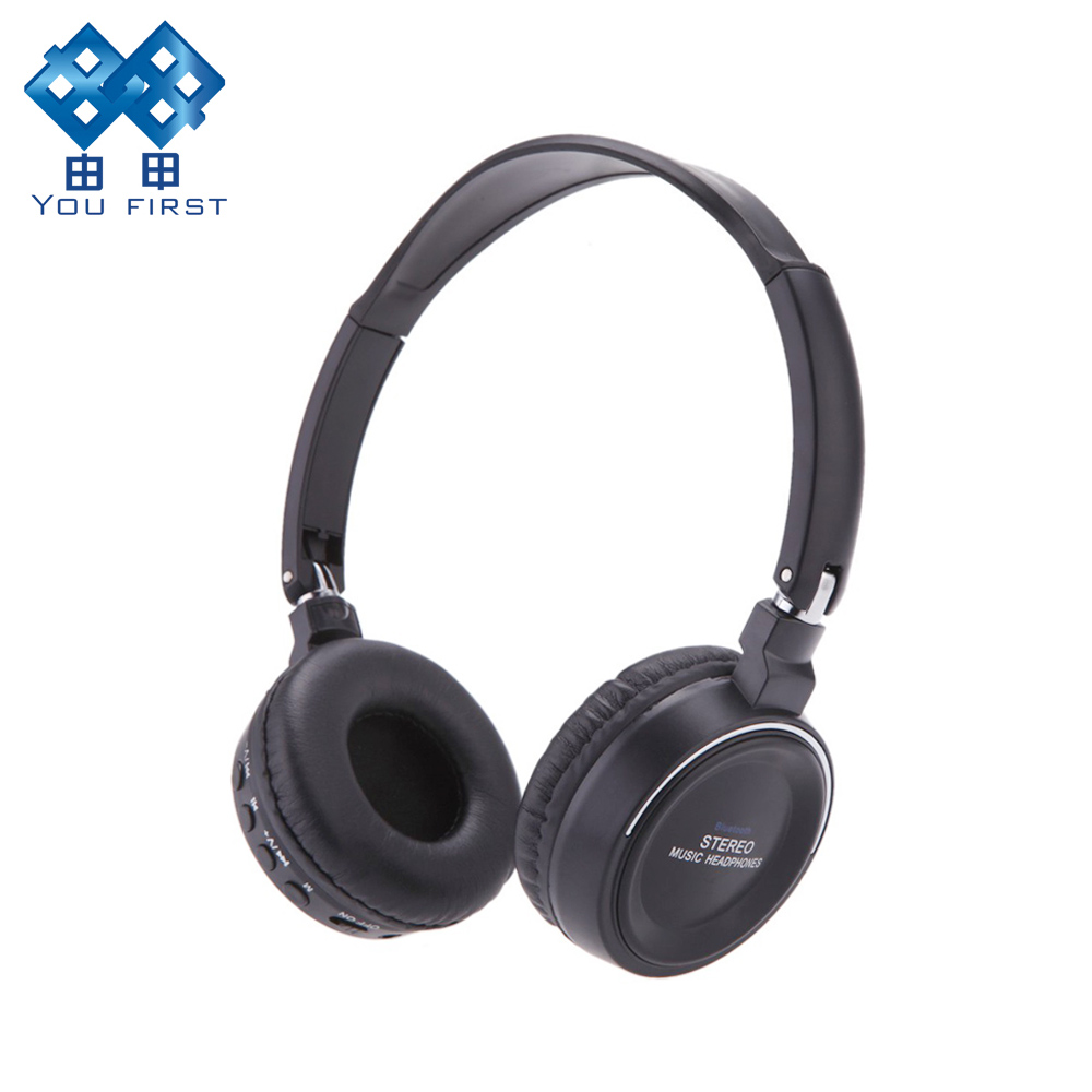 YOU FIRST Digital Wireless Earphone 3 in 1 Multifunctional Stereo Headphone Bluetooth Headset with Mic MP3 TF Card FM Radio
