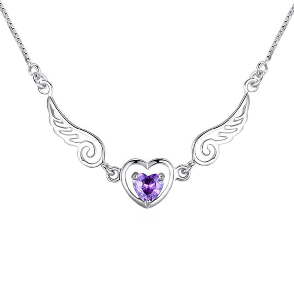 High Quality Hot Sale Silver jewelry love angel wings