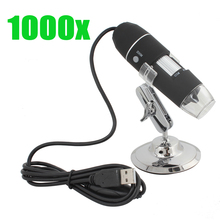 Discount! 1000X 8 LED USB Electronic Digital Microscope Microscopio for Jewelery & Stamp / Biological / PCB / Textile etc Inspection