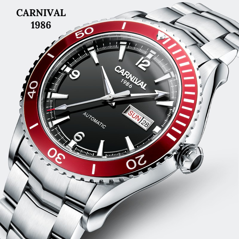 Carnival Sport Automatic Watch Men MIYOTA Movement Mechanical Watches Mens Sapphire Crystal Luminous 5ATM Clock montre homme Carnival Sport Automatic Watch Men MIYOTA Movement Mechanical Watches Mens Sapphire Crystal Luminous 5ATM Clock montre homme