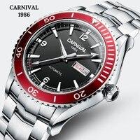 Carnival Sport Automatic Watch Men MIYOTA Movement Mechanical Watches Mens Sapphire Crystal Luminous 5ATM Clock montre homme