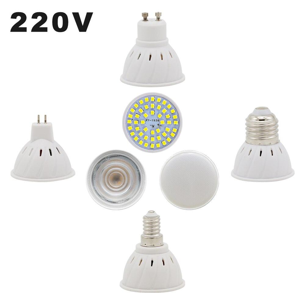 220V LED Corn Bulbs E27 E14 MR16 GU10 Light Bulb Lampada Ampoule Spotlight 48 LEDs Chip 2835 SMD Bombillas LED Lighting Lamp Cup