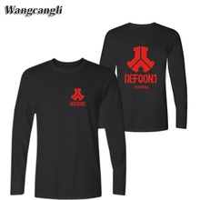 wangcangli Rock Band Defqon.1 mens t shirts fashion 2017 Long Sleeve t-shirts Men/Women Spring Autumn Cool Kpop Design T-Shirt