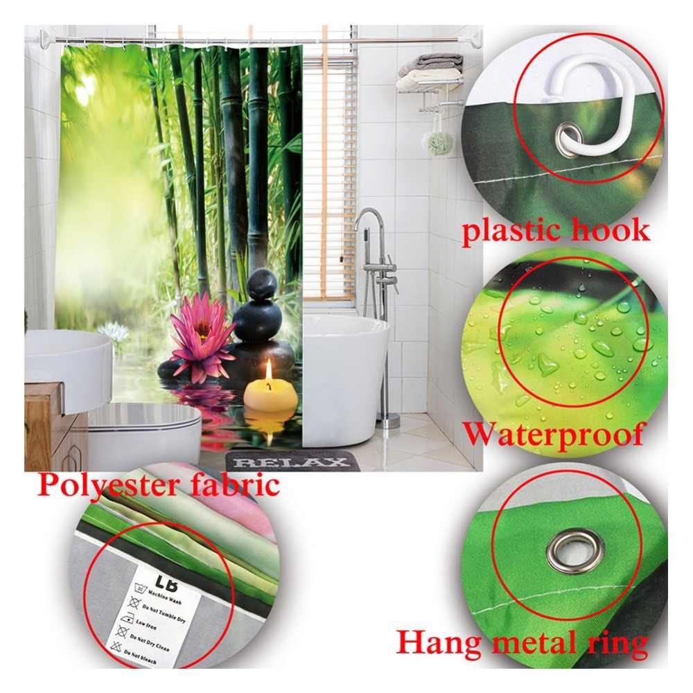 LB berneński słuchawki Saint Bernard śmieszne zasłona prysznicowa pies wodoodporny luksusowe niestandardowe łazienka tkaniny dla mężczyzn sztuki wanna Decor