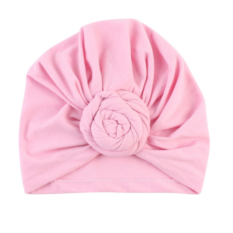 Cotton Baby Cups Girls Boys Candy Hats Soft Turban Knot Hat Infant Toddler Beanies Cap Solid Indian Style Hat Newborn Gift