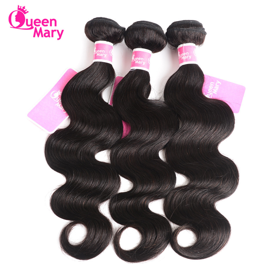 Brazilian Body Wave Bundles Human Hair Bundles 3 Bundle Deals Body Wave Brazilian Hair Weave Bundles Queen Mary Non Remy Hair