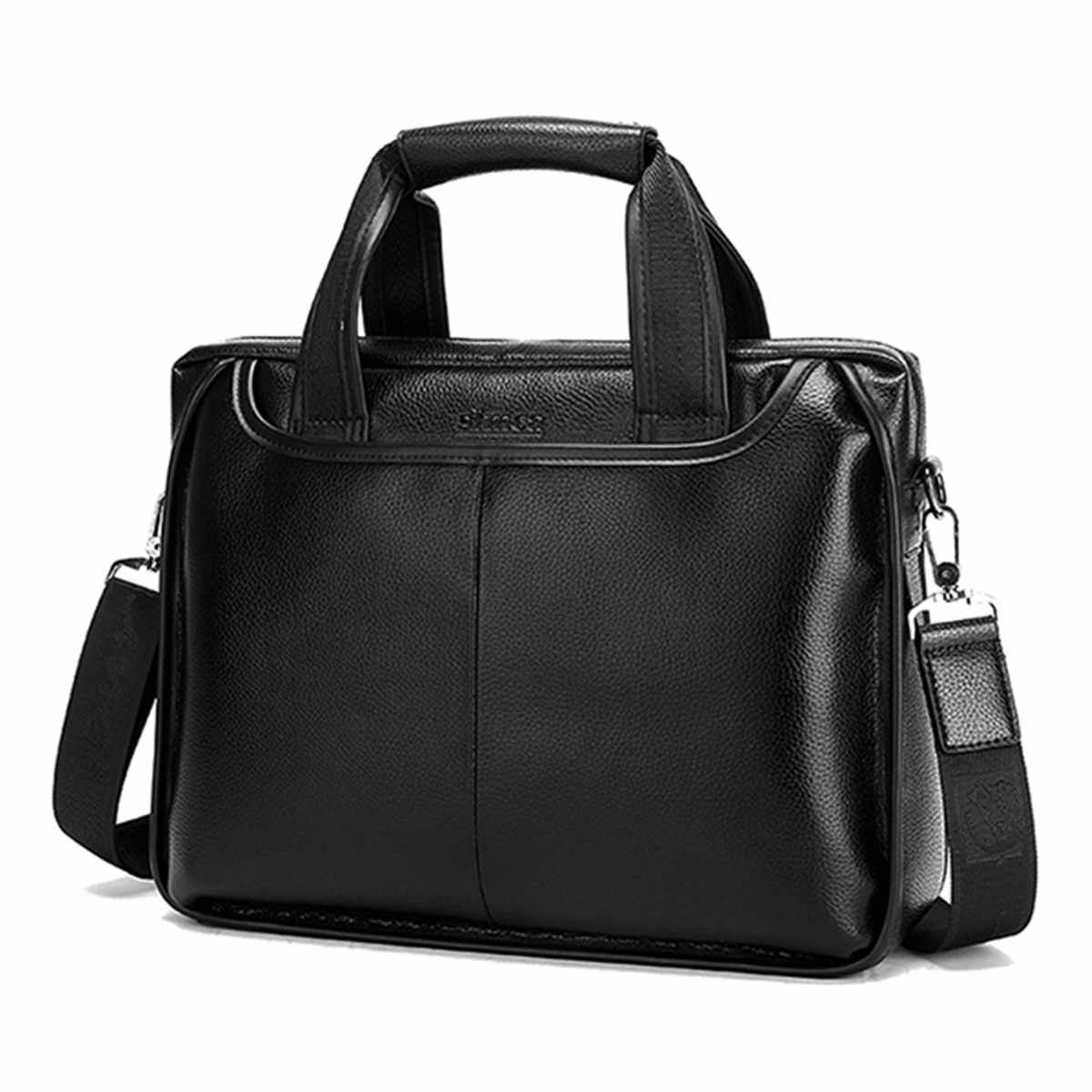 Osmond Men Genuine Leather Handbags Casual Leather Laptop Bags Male Business Travel Messenger Bags Men's Crossbody Shoulder Bag