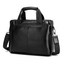 Osmond Men Genuine Leather Handbags Casual Leather Laptop