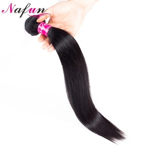 Image 4 - NAFUN Peruvian Straight Hair Bundles With Lace Frontal Human Hair Bundles With Frontal Non Remy Hair Extensions Middle Ratio