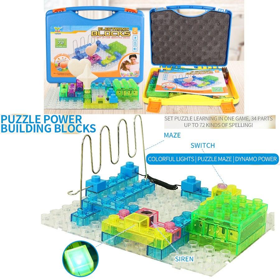 72 projets bricolage Kits bloc de construction intégré 34 pièces bloc de Circuit électronique Science Kits d'expérience tige jouets éducatifs