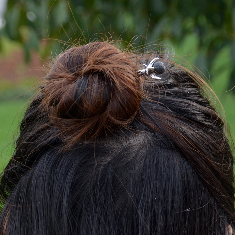 Ethnic Silver Hairpins 5