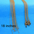"""18 inch 5PCS Free shipping  GOLD FILLED """"O"""" Necklace Making Jewelry Word """"O' Link Necklaces Chains ROLO Chain Necklaces Nice"""