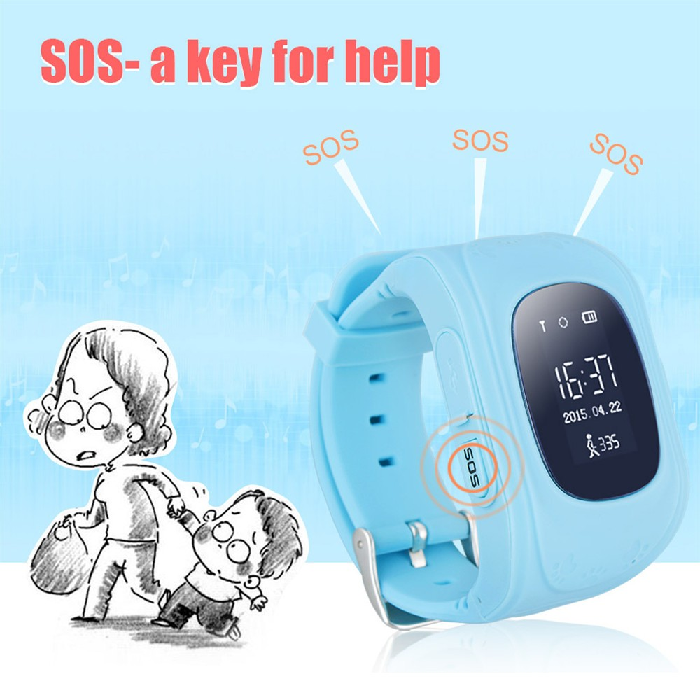 2016 Smart Kid Safe GPS Watch Wristwatch SOS Call Location Finder Locator Tracker for Kid Child Anti Lost Monitor Baby Gift Q5022