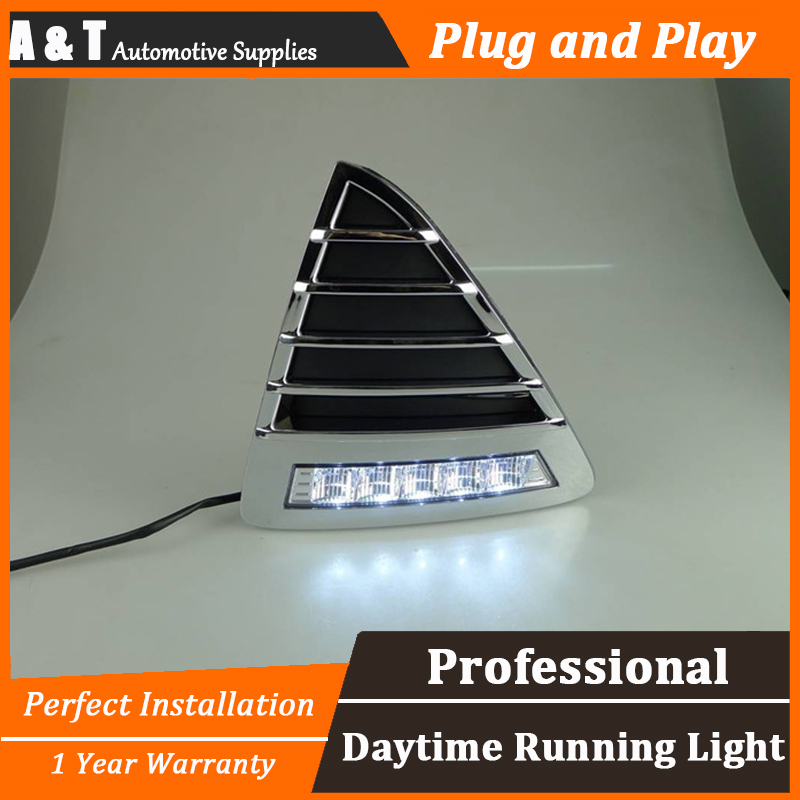A&T car styling For Ford FocusLED DRL For Focus High brightness guide LED DRL led fog lamps daytime running light For E style for lexus rx gyl1 ggl15 agl10 450h awd 350 awd 2008 2013 car styling led fog lights high brightness fog lamps 1set