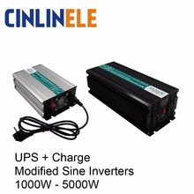 UPS+ Зарядное устройство модифицированный синусоидный инвертор 1000 Вт-5000 Вт AC/DC 12V 24V 48V к переменному току 110V 220V 1500W 2000W 3000W 4000W Солнечная Мощность автомобиля
