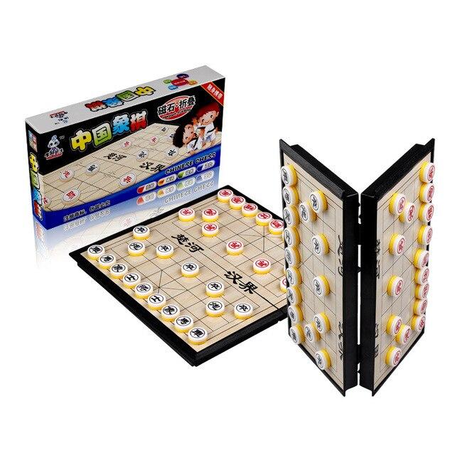Xiangqi jeu d'échecs chinois magnétique, Portable et pliable, pour enfants et adultes 3