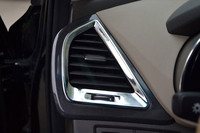 ABS Chrome Air conditioning adornment Air conditioning outlet Cover Trim For 2013 Hyundai Santa Fe ix45