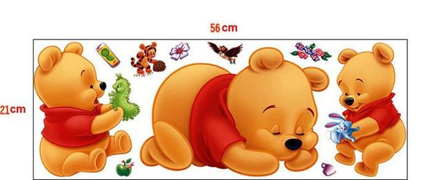 Winnie The Pooh Cartoon Wall Sticker
