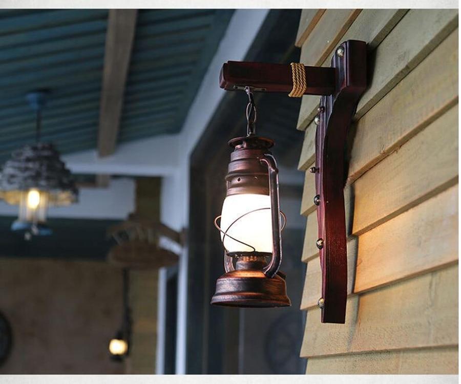 Cinese antico retro lampada da parete a led balcone lampada a