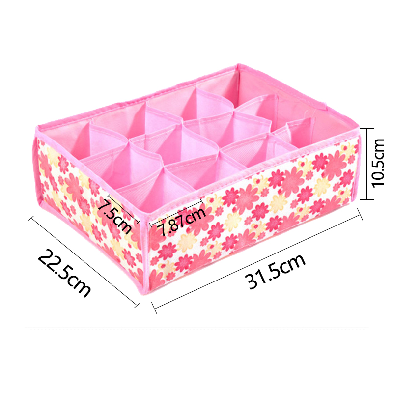 Foldable Organizer For Underwear Socks Bra Drawer Organizers Closet Underwear Organizer Drawer Divider Storage Box 7