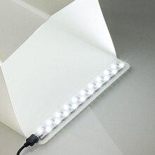LED אור רצועת 20CM 35CM תמונה סטודיו תאורה רך תיבת ירי פשוט אוהל ארון Lightbox צילום תיבת סטודיו אבזרים