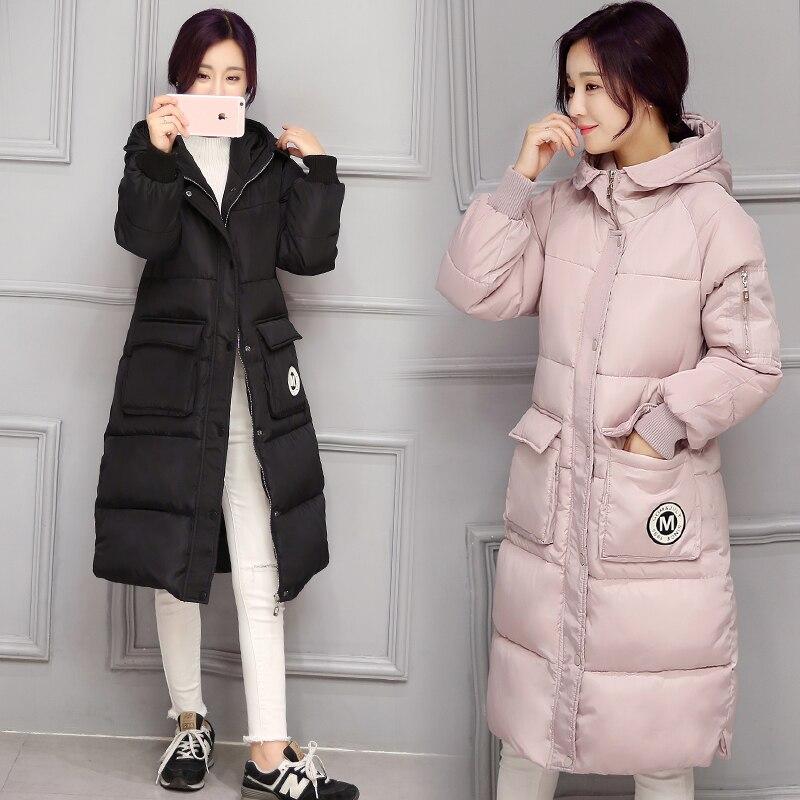 2016 Yeni Uzun Parkas Kadın Kadınlar Kış Coat Kalınlaşma Pamuk Kış Ceket Bayan Dış Giyim Parkas Kadınlar Kış için Dış Giyim