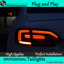 A&T Car Styling for Jetta MK6 Tail Lights North America Design Jetta LED Tail Light Rear Lamp DRL+Brake+Park+Signal